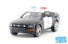 1PC 12.5cm Wisdom crown Kinsmart ford mustang stands before the policeman car police alloy car models gifts(China)
