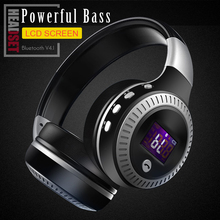 ZEALOT B19 HiFi Bass Stereo Bluetooth Headphone Wireless Headset LCD Display With Microphone FM Radio Micro-SD Card Slot