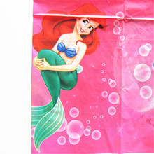 1pcs Cartoon Disposable plastic TableCloth Mermaid Theme Table Cover Tablecloth Kid Boy girl Birthday Party Map Home 180*108cm