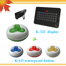 433MHz Wireless Paging Calling System 6 Numbew Display 60 Service Button Restaurant Waiter Call Pager System(China)