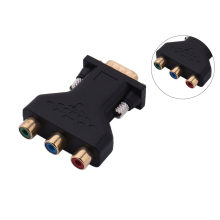 VGA to 3 RCA Adapter RGB Video Female to HD15-Pin VGA Converter Style Component Video Jack Adapter(China)