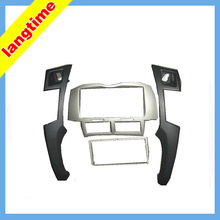 Car refitting DVD frame,DVD panel,Dash Kit,Fascia,Audio frame for Toyota Yaris,Vitz,Platz 05-10,2DIN (Silver)