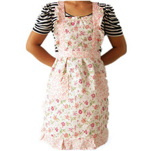 lovely pet Women Home Kitchen Cooking Bib Flower Style Pocket Lace Apron Dress nov29
