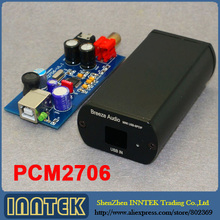 Finished PCM2706 USB DAC Coaxial headphone amplifier Completed in case , Free shipping