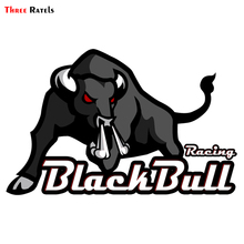 Car-Stickers Decals Black Bull Racing Funny Pvc Three-Ratels 15x10cm TRL430 TRL430