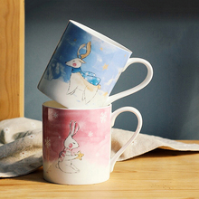 Cute Animal Coffee Mug Lovely Ceramic Couple Mugs Fine Bone China Tea Coffee Cup Ceramic Cartoon Cups Holiday Lovers Gift Mug(China)