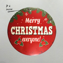 DL-Christmas decorations!!!Novelty gifts Merry Christmas everyone metal art wall decor(China)