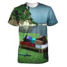Real American size , minecraft dreams 3D Sublimatin print  high quality T-shirt Custom Made Clothing plus size