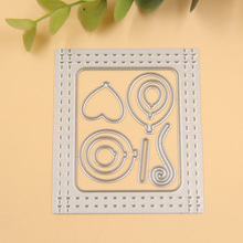 New Frame Balloons Metal Cutting Dies Stencils for DIY Scrapbooking/photo album Decorative Embossing DIY Paper Cards