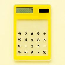 Solar Calculator LCD 8 Digit Touch Screen Ultra Slim Transparent Clear Student Calculator for School Office