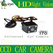 CCD Universal 4 LED Car Rear View HD Reversing Camera parking Backup 170 Degree Wide Angle DC12V - Shop1245974 Store store