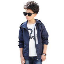 2017 Brand Boy Autumn Spring Wind Jacket Long Sleeve Coat Outdoor Sport Skiing Outwear Boy School Fashion Jacket Kid Clothes(China)