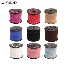100 yard(90m) Multicolored Flat Faux Velvet Suede Cords For DIY Jewelry Making Elastic Chinese Knot Jewelry Cord Threads