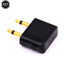 High Quality Gold Plated 10pcs/Lot 3.5mm Jack Airline Airplane Earphone Headphone Headset Jack Audio Adapter