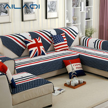AILAQI American modern style sofa cover USA Flag cotton sofa set slipcovers for Winter usage 1Pc(China)