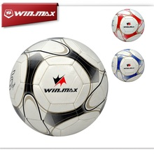 WINMAX Machine Stitched 2mm PVC Soccer Football Ball Sports  Anti-slip Football Mechanically Stitched Ball for Christmas Gifts