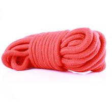 Buy 5M/10M Bondage Rope,Slave Restraint Rope Adult Game,Hot Erotic Sex Products Fetish Sex Toys Couple RED Cotton Rope JU28