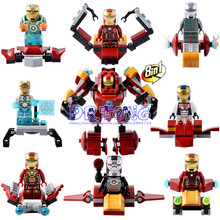 DR.TONG Super Heroes Star Wars Iron Man 8 In 1 MARK 26 37 MK 26 37 Building Blocks Bricks Collection Toys Child Gift LELE 34011(China)