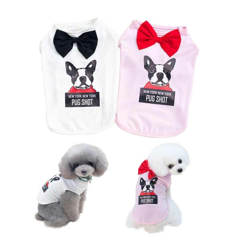 Vest Tee Pet Vest Small Medium Dog Pattern Printed T Shirt Puppy Spring Summer Apparel Clothing Supplies