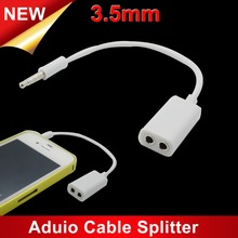 Hot Selling One in Two Couples Audio Line Phone A Two Audio 3.5 Splitter With Two Lovers Headphones Earphone Line