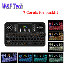 Q9 Mini Wireless Keyboard 2.4GHz RGB Backlit Touchpad for Android/Google Smart TV Air Mouse Mini Teclado better I8 air mouse(China)