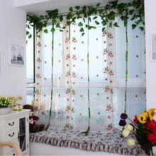 Embroidere flower cortina de janela Tulle curtain bedroom Finished curtain for living room Product Quality Window Curtain