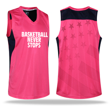 2016 Men's Basketball Clothes Suit Shirts and Shorts Warm Up & Game Jersey Custom Logo Name & Number (Pink)(China)