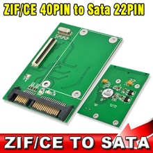 "CE ZIF 40Pin 1.8"" SSD to SATA 7+15 22Pin ATA HDD Hard Disk Drive Adapter Converter with Tracking number"