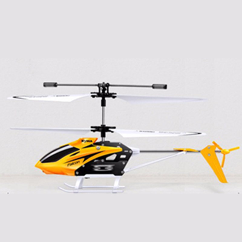 Syma W25 Mini Indoor Aluminum RC Helicopter Light Built Gyroscope Remote Control Drone Toys Red Yellow Color