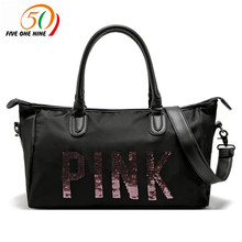 2017 hot design PINK Duffle Bag Tote Marl black pink beach vs pink bag(China)