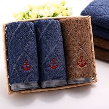 37x77cm Solid 100% Cotton Home Face Hand Towel Plush Fabric Set of 3,Quick Drying Pool SPA Salon Towel Bath,Serviette de Bain