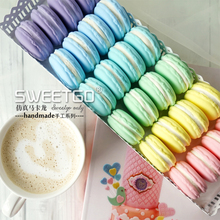 Set of 14pcs Handmade Simulation Cake, Wedding Party Macaron Cake Model/Christmas Decoration, Artificial Cake for Window Display(China)