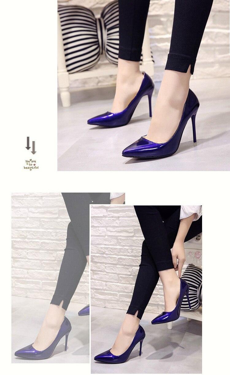 2018 CHAUDE Femmes Chaussures Bout Pointu Pompes En Cuir 24