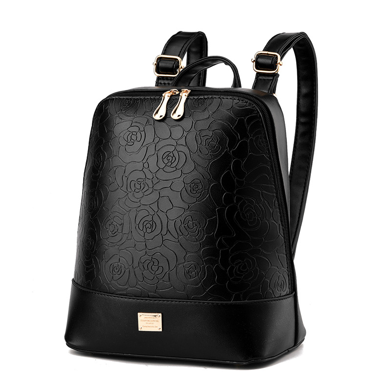 2017 Chinese style fashion women backpacks High quality embossed PU leather large capacity backpack for girls<br><br>Aliexpress