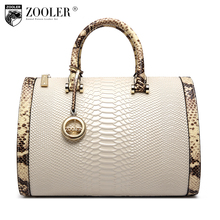ZOOLER High quality leather bag for women cowhide leather handbags famous brands Top-Handle Bag Boston shoulder crossbody bag150(China)