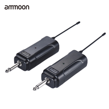 ammoon Portable Wireless Audio Transmitter Receiver System for Electric Guitar Bass Electric Violin Musical Instrument