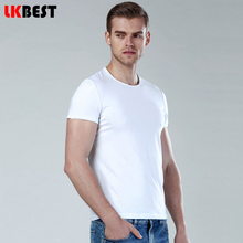 LKBEST 2017 new men t shirt O-neck cotton short sleeve t-shirt men casual high quality solid mail Shirt plus size M-XXXL(TS210)