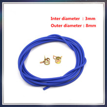Free Shipping New Silicone Vacuum Hose /Tube Silicone Pipe ID:3mm OD:8mm Include Clamp