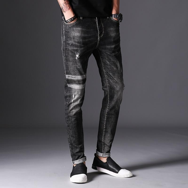 Sale Jeans Men Robin Biker Mens Distressed Overalls Fashion Jean Skinny Designer Clothes Brand Clothing Slim Full Length SolidÎäåæäà è àêñåññóàðû<br><br>