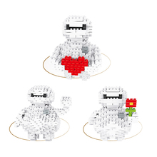 DIY Mini Building Nano blocks,children gift,model,Educational toys,heart shape,3 IN 1,white,cartoon role series,LELE BROTHER