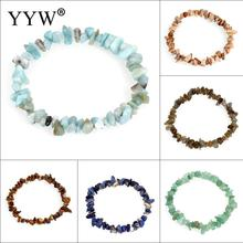 Buy YYW Natural Real Gems Stone Beaded Bracelets Chips Nuggets Lapis Lazuli Tiger Eye Black Rose Stone Quartz Wristband Bracelets for $1.30 in AliExpress store