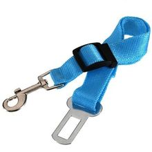 2.5cm wide nylon fabric Sky Blue Adjustable Pet Car Safety Seat Belt used for cats dogs suitable for all kinds of vechicles