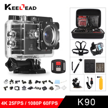 Original KEELEAD K90 K90R Ultra HD 4K  Action Camera with NTK96660 chip 2.0' Screen 1080P 60fps sport Camera remote Cam