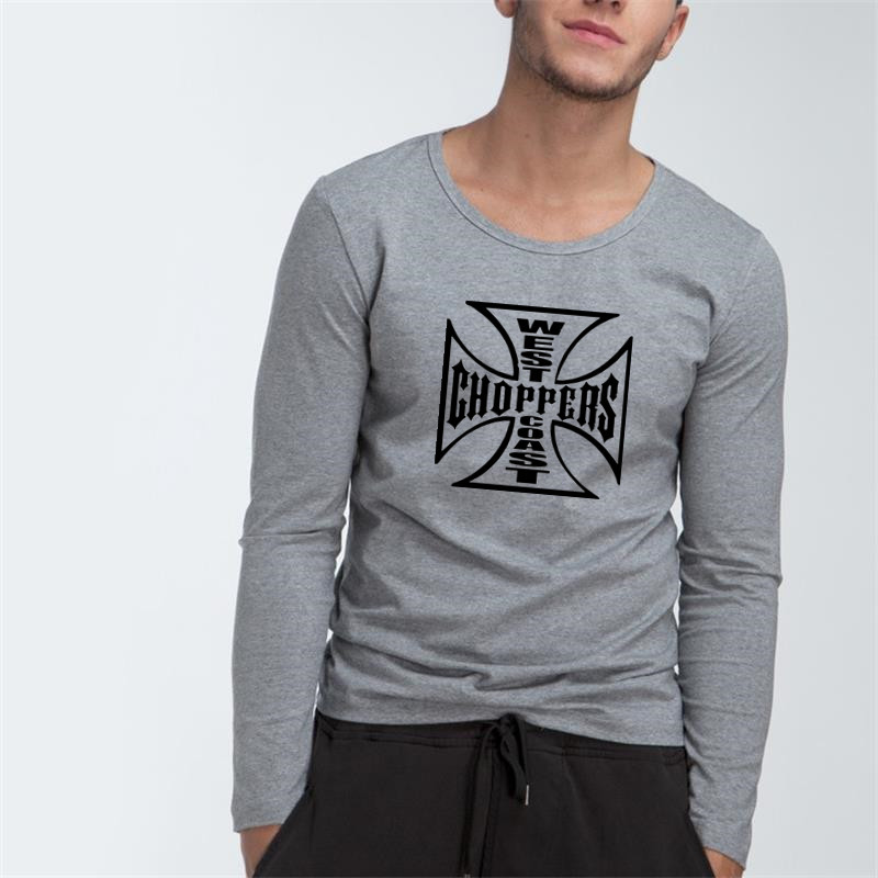 West Coast Choppers Men Customized Cotton Long Sleeve Tops Tees  for Boy Casual Clothing Anime cosplay family T shirt