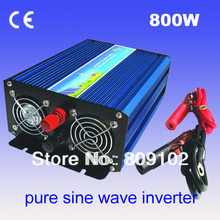 Off Grid 800w DC12V/24V, AC110V/220V, Pure Sine Wave Solar Inverter or Wind Inverter, Surge 1600w, 50Hz/60Hz , Single Phase