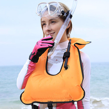 2017 Inflatable life jacket life vest  Float ring swim Snorkeling Gear dive suit Equipment Swimwear Inflatable Adult Swimwear