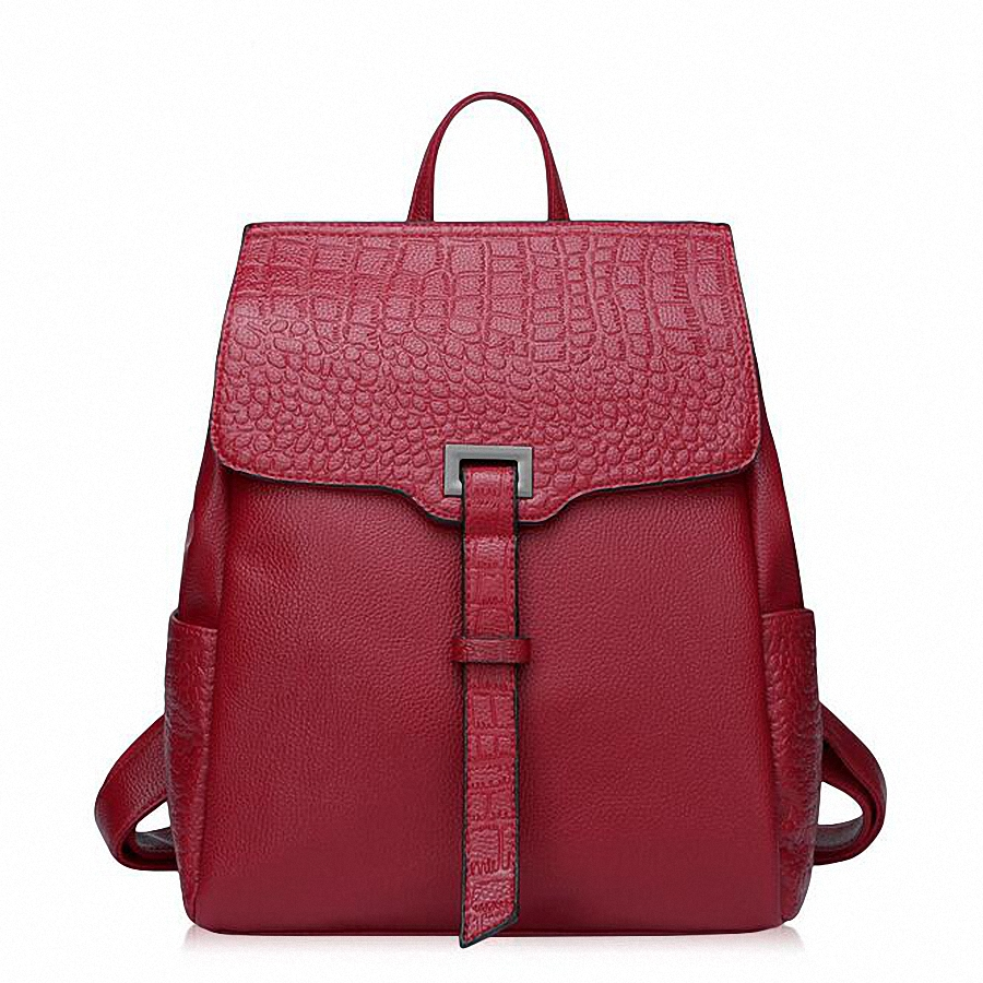 ForUForM Genuine Leather Backpack Women Preppy Style crocodile Backpack Girls School Bags Zipper Shoulder Women BackPack LI-1717<br><br>Aliexpress