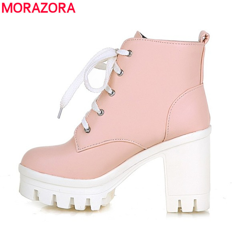 MORAZORA 2017 New Fashion sexy womens ankle boots high heels Punk platform Women winter autumn boots ladies shoes<br><br>Aliexpress
