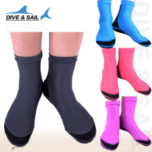 Free Shipping DIVE&SAIL Diving Socks With Webbed Feet Thick Slip Wear Lycra Elastic Snorkeling Socks(China)