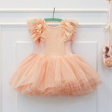 Flower Girl Evening Gowns Pageant Dresses for Little Girls Children Tutu Dress for Wedding Kids Clothing(China)